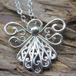 Sterling Silver You Are My Angel necklace